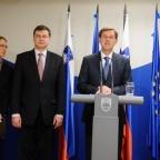 Obisk komisarja Valdisa Dombrovskisa v Sloveniji / Official visit of Commissioner Valdis Dombrovskis to Slovenia